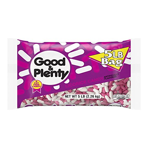 GOOD & PLENTY Licorice Candy- 5 Lb bag