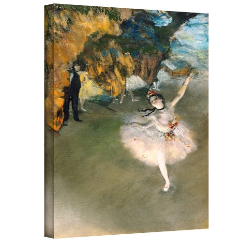 ArtWall 'Prima Ballerina' Gallery-Wrapped Canvas Artwork by Edgar Degas, 16 by 24-Inch