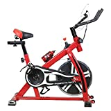 TELEbrands-HBN Fitness Spin Bike (RED); Exercise Cycle For Home Gym; 8kg Flywheel; Indoor Cycle; Trainer Fitness; Spin Bike (Imported)