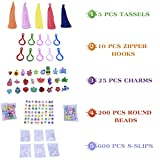 11000 Pcs Colorful Rainbow Rubber Bands Refill Kit Set Box - Loom Bands Large Storage Container , Over 10000 Premium Loom Bands In Different Nice Colors , 600 S Clips , 25 Charms And 200 Beads