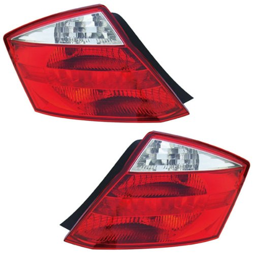 2008-2009-2010 Honda Accord EX EX-L LX-S 2-Door Coupe Tail Lamp Rear Brake Light Taillight Taillamp Pair Set Right Passenger And Left Driver Side (08 09 10) Honda Accord 2 Door Tail