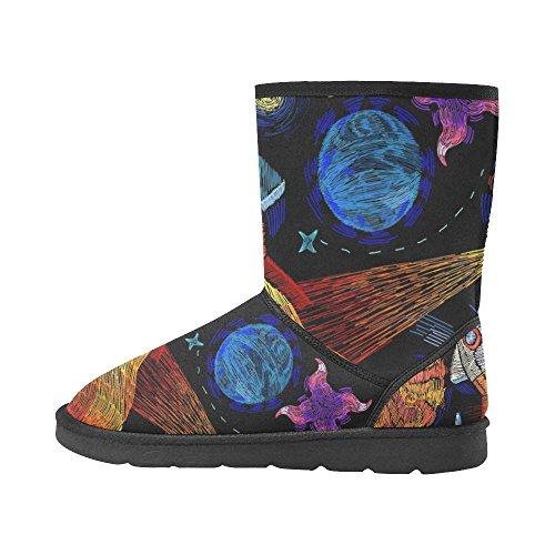 Interestprint Leinterest Planet Snow Botas Zapatillas Moda Para Mujer
