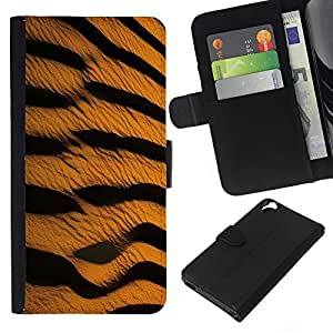 KingStore / Leather Etui en cuir / HTC Desire 820 / Patrón Tiger Cat Wild Safari Arte Naturaleza