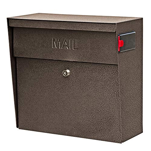 (Mail Boss 7164 Metro Locking Security Wall Mount Mailbox, Bronze )
