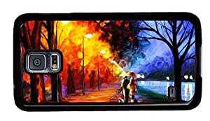 Hipster Samsung Galaxy S5 Case girly Walk on Art PC Black for Samsung S5