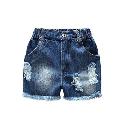Girl Clothes Little Kids Short Sets Cotton Casual Coat Jeans 2 Pcs Pants Sets