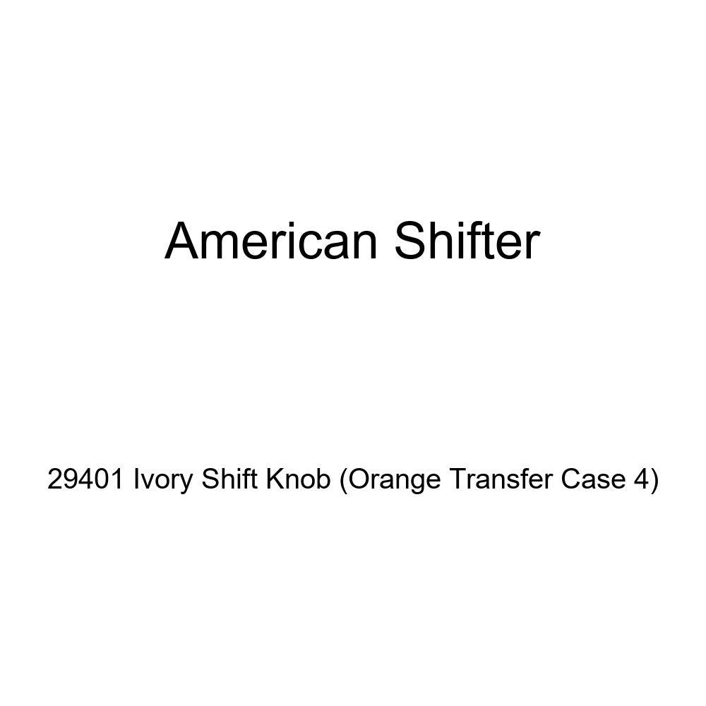 American Shifter 29401 Ivory Shift Knob Orange Transfer Case 4
