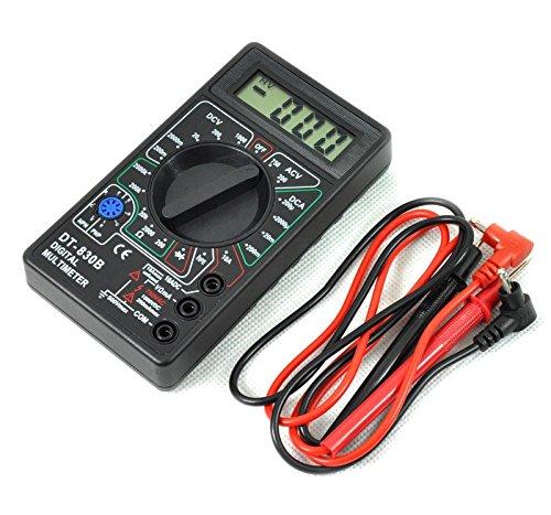 Digital Multimeter Tragbar Voltmeter Widerstandsmessgerät Amperemeter mit 2Kordeln
