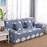 RUGAI-UE Sofa Slipcover sofa cover tight fitted elastic gasket cover three upholstered sofa full four living room,Four seater sofa 235-300cm,Flaky clouds