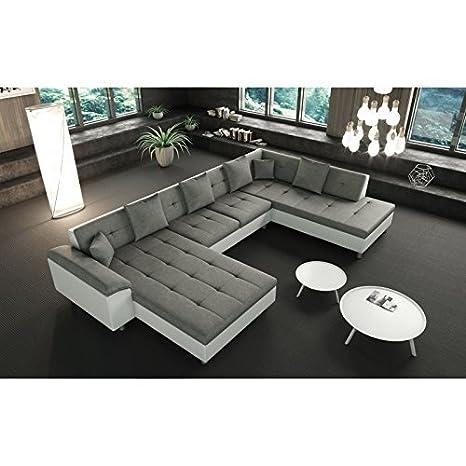 tendencio sofá de Esquina XXL panorámica ángulo Derecho Gris ...