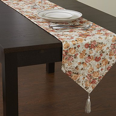 All U?Want Country Style Printing Floral Table Runner