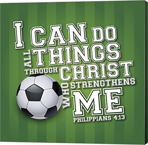 I Can Do All Sports - Soccer by Scott Orr Canvas Art Wall Picture, Gallery Wrap, 37 x 37 inches by Great Art Now