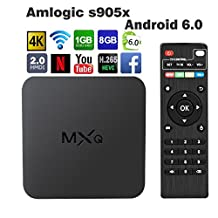 [Upgraded Version] Android TV Box, Globmall MXQ Android 6.0 TV Box Marshmallow OS, 4K Full HD/H.265/WiFi