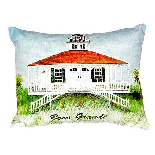 Betsy Drake NC726 Boca Grande Lighthouse No Cord Pillow 16