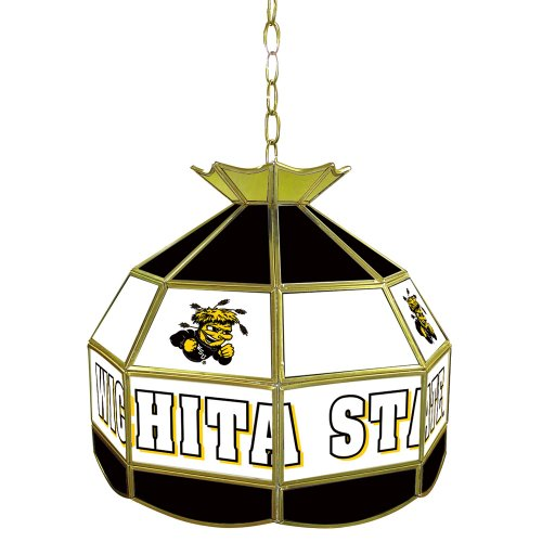 NCAA Wichita State 16-Inch Stained Glass Tiffany Lamp by Trademark Global