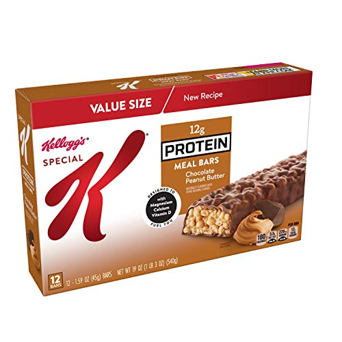 Aurora Bar - Special K Protein Meal Bars, Chocolate Peanut Butter, 19 oz (12 Count)