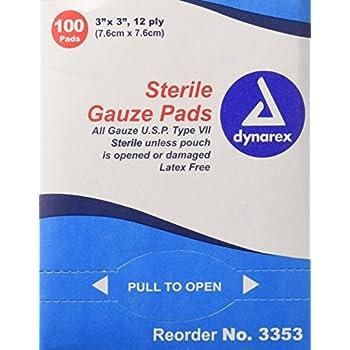 Amazon.com: DKL1312 - Sterile Gauze Pads, 3x3, 12 Ply, 100 ...  Amazon.com: DKL...