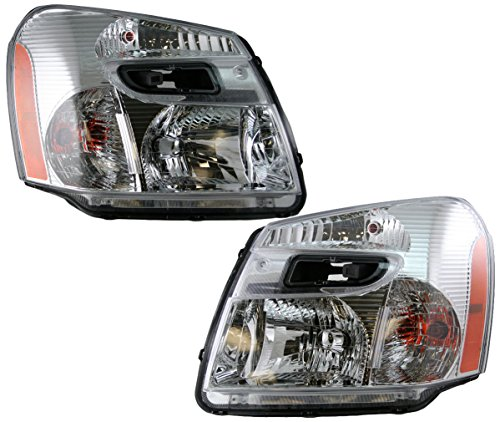 Headlights Headlamps Left & Right Pair Set for 05-09 Chevy (Chevy Headlamp)
