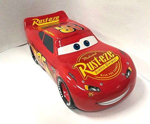 Lightning McQueen Disney Pixar Cars 95 Rust-eze Coin Money Bank (Pump Cars Gas Disney)