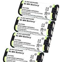 Generic 4 Pack 1000mAh Cordless Phone Battery for Panasonic HHR-P105 Compatible for Muraphone HHRP105 HHR-P105 KXFG2451 KX-FG2451,Panasonic HHRP105 HHR-P105 KXTGA670 KX-TGA670 KXTGA670B KX-TGA670B KXTGM240B KX-TGM240B TYPE31 91AAALH2BXZ