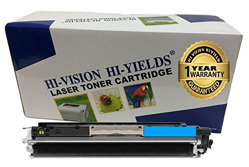 HI-VISION HI-YIELDS Compatible Toner Cartridge Replacement for Hewlett-Packard (HP) 126A CE311A (Cyan)