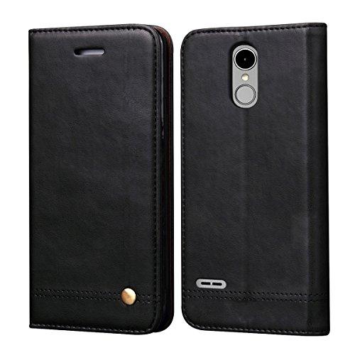 - LG K10 2018 Case, LG K30 Case,LG K10 Alpha Sturdy Case,RUIHUI Luxury Leather Wallet Folding Flip Protective Shock Resistant Case Cover with Card Slots,Kickstand and Magnetic Closure (Black)