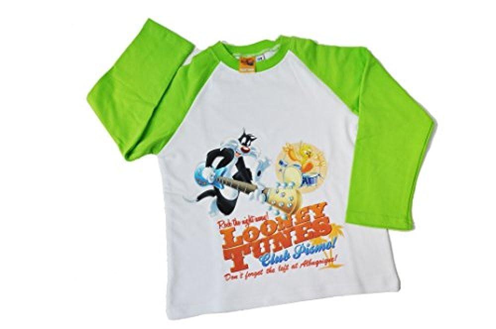 Pijamas Bimbo de Looney Tunes (7/8 años, verde blanco): Amazon.es: Ropa y accesorios