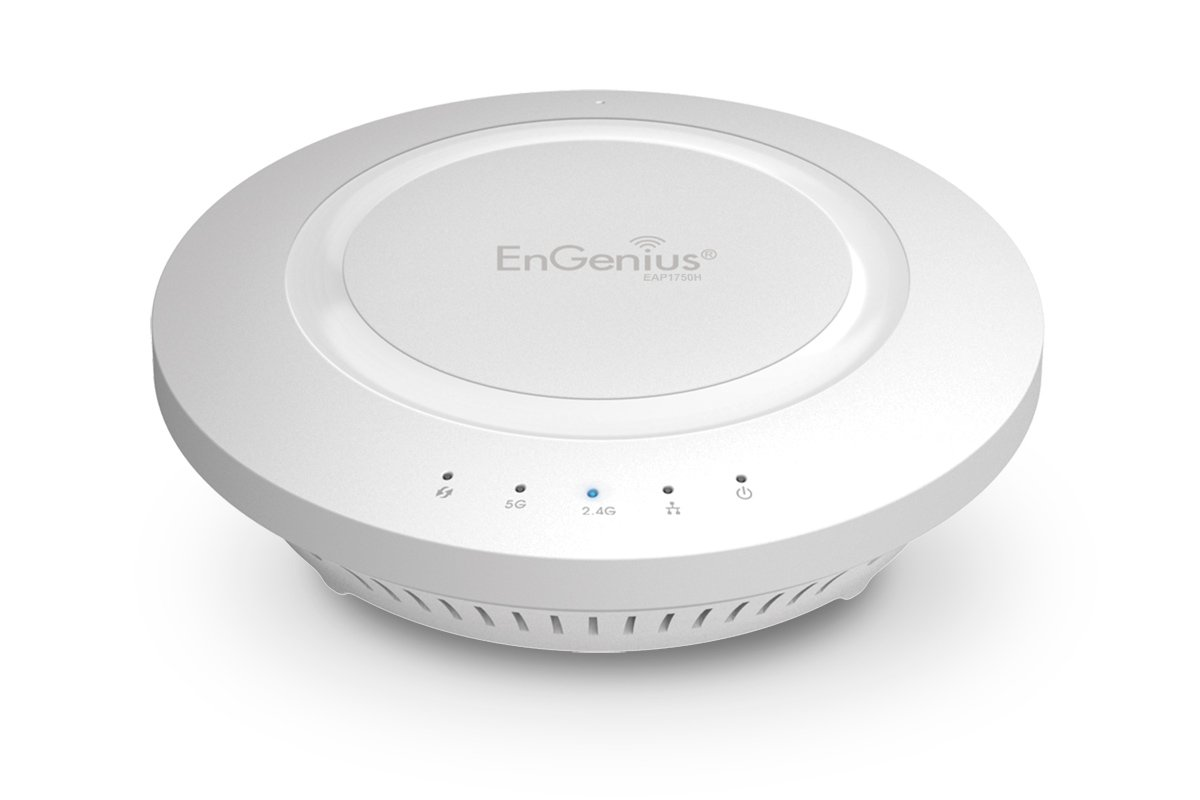 EnGenius 802.11ac 3x3 Dual Band, high-powered, long range, 28 dBm, Indoor Ceiling-Mount Wireless AP with integrated Antennas, gigabit port, (EAP1750H) by EnGenius