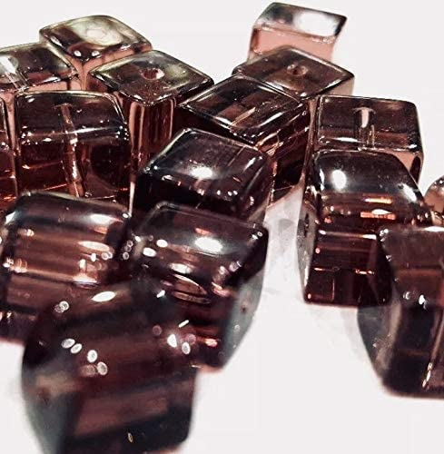100 pieces 4mm Clipped Cube Style Value Crystal Glass Beads A3013 Dark Amethyst