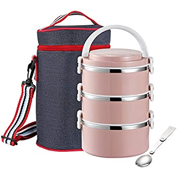 Amazon.com: Lille Home 30oz Stackable Compartment Lunch