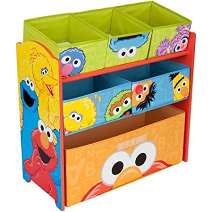 Amazon com: Sesame Street Multi-Bin Toy Organizer: Kitchen