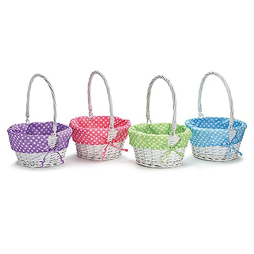 Burton & Burton Spring Colored Liners Willow Basket Set Childrens Party Supplies