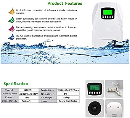 HDKIGY Generador De Ozono Purificador De Aire Preparación De Agua ...