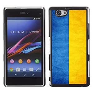 Shell-Star ( National Flag Series-Ukraine ) Snap On Hard Protective Case For SONY Xperia Z1 mini