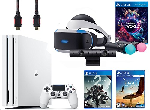 PlayStation VR Launch Bundle 3 Items:VR Launch Bundle,PlayStation 4 Pro 1TB Destiny 2 Bundle,VR Game Disc Eagle Flight VR by Sony VR
