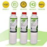 Samsung DA29-00020B Refrigerator Water Filters Replacement | 3 Pack | NSF CERTIFIED 100% Lead Free Fridge Filters | Easy To Install Cartridges | Purify Water, Remove Chlorine& Chemicals | By PureGreen