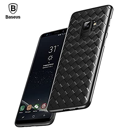 sports shoes 4147a 3a6ff Atharva Baseus TPU Weaving Case for Samsung Galaxy S9 Plus (Black)