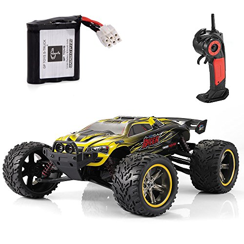 GPTOYS S912 Remote Control Truck Off-Road 1:12 Scale 2.4 GHz 2WD – Yellow (3rd Version)
