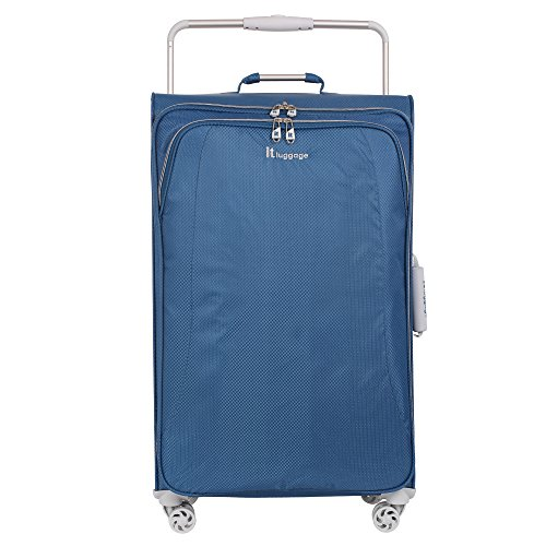 it luggage World's Lightest 31.5'' 8 Wheel Lightweight Spinner , Blue Ashes by IT Luggage