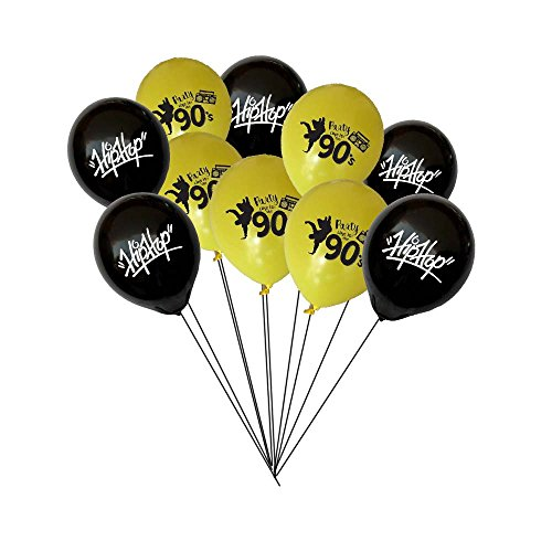 Razzle Dazzle Celebrations 90s Hip Hop Party Balloons 10 inch Latex 10ct (Hip Hop)]()