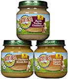 Earth's Best Organic Stage 2, Dinner Favorites Variety Pack, 12 Count, 4 Ounce Jars