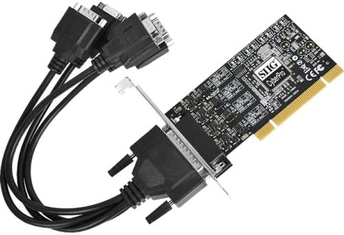 SIIG INC ID-P40311-S1 4PORT SER PCI RS422//485 ADAPTER W//CABLES INDUSTRIAL 15KVDC ESD