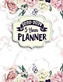 2020 - 2024 5 Year Planner: Rose Gold Marble and Floral Planner. 60 Months Calendar and Organizer, Monthly Planner with Holidays. Plan and schedule your next five years.