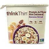 thinkThin 蛋白质和纤维热燕麦,苹果香料,1.76 盎司杯(6 杯) Protein& Fiber Cups- 6 CT 10.56