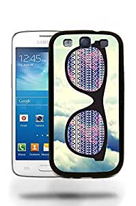 Hipster Infinity of Love Colorful Glasses Phone Case Cover Designs for Samsung Galaxy S3