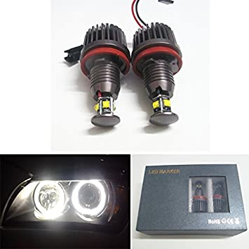 Amazon Com Gfjmc 40w H8 Cree Led Angel Eye 360 Degree Halo Bulb Light Lamp 6000k Xenon White For Bmw E90 E92 E70 E71 E82 E89 M6 1 3 5 Series X5 X6 Z4