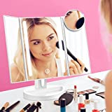 LED Lighted Makeup Mirror with 10X Magnification