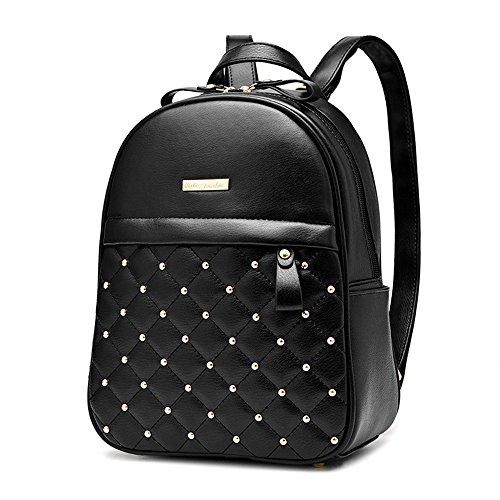 Rfvbnm Backpack Women Bags Fashion Causal High Quality Women Shoulder Bag Leather Shoulder Bags Girls Best Gift For Girls, Black Blue