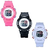 Lancardo Kids Multi-Function Sport Digital Watch Children's Day Gift Outdoor Traning Watch For Boys Girls(Red)