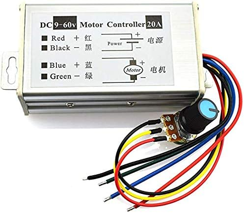 DC Motor Controller High Power PWM Control Switch Motor Speed Regulator DC 12V 24V 36V 48V 60V 20A 1200W